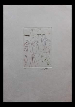 """Salvador Dali- Original Engravings in color """"La"""