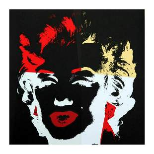 "Andy Warhol ""Golden Marilyn 11.39"" Limited Edition Silk"