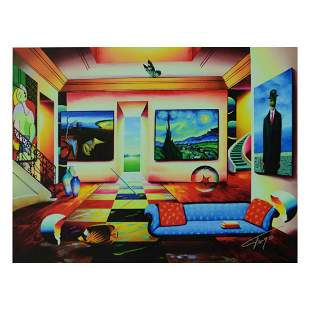 """Ferjo, """"The Salon"""" Limited Edition on Canvas, Numbered"""