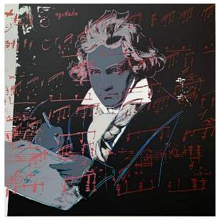 """Andy Warhol """"Beethoven"""" Limited Edition Silk Screen"""