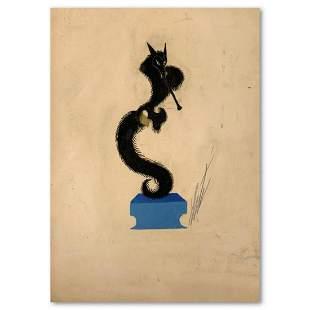 "Erte (1892-1990), ""Final, La Fontaine"" Original Gauche"