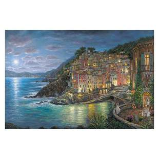 """Robert Finale, """"Awaiting Riomaggiore"""" Hand Signed,"""