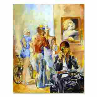 "Lena Sotskova, ""Small Town"" Original Painting, Oil on"