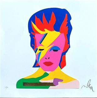 Marco Lodola- Original Serigraph on Paper with golden