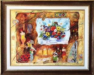 "Sergey Kovrigo- Original Oil on Canvas ""Spring Bouquet"""