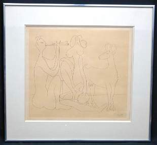 Pablo Picasso -Mes dessins d'Antibes 1946 lithograph on
