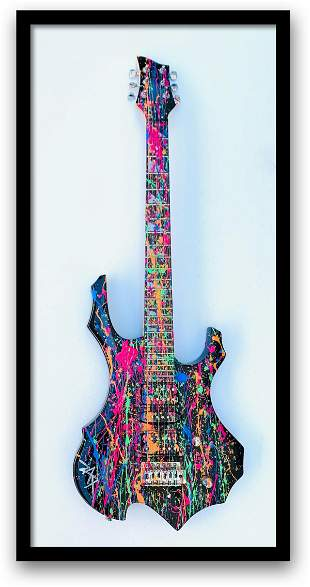 E.M. Zax One of a Kind Hand Painted Electric Guitar