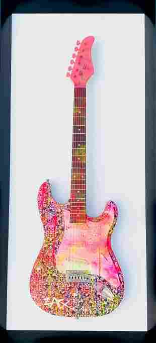 E.M. Zax ONE OF KIND HAND PAINTED ELECTRIC GUITAR