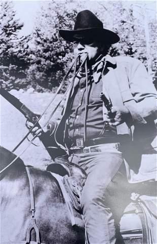"""Photograph on paper """"John Wayne"""""""
