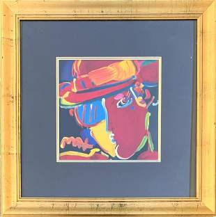 Peter Max Original Acrylic on paper -One of a Kind