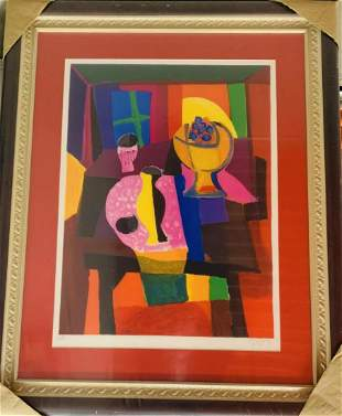 Marcel Mouly Original Lithograph on paper