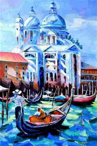"Yana Rafael Original Acylic on Canvas ""In Love in"