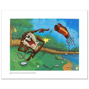 """""""Terrible Taz Golf"""" Limited Edition Giclee from Warner"""