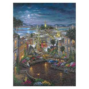 """Robert Finale, """"Moonlight O Lombard"""" Hand Signed,"""