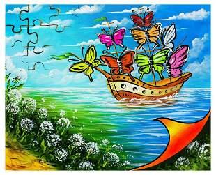 "Eugene Poliarush- Original Oil on Canvas ""Flowers"