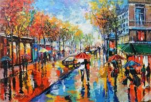 "Ranevska- Acrylic on Canvas ""Untitled"""