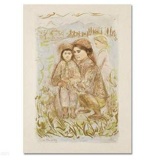 """""""Mrs. Hsu"""" Limited Edition Lithograph by Edna Hibel"""