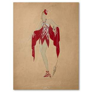 "Erte (1892-1990), ""Phi-Phi, les Modeles de Phidias"""