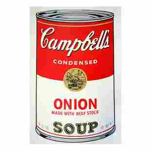 """Andy Warhol """"Soup Can 11.47 (Onion w/Beef Stock)"""" Silk"""