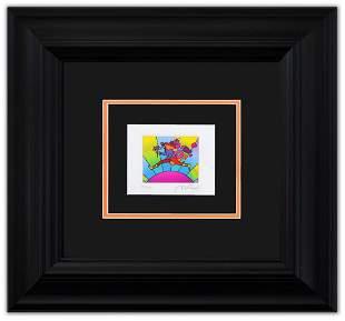 "Peter Max- Original Lithograph ""Flower Jumper Over"