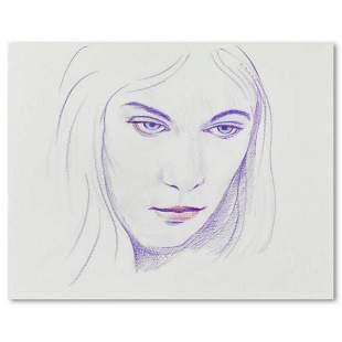 "Charles Lynn Bragg, ""Elvira"" Original Colored Pencil"