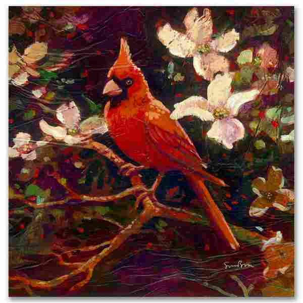 """""""Cardinal"""" Limited Edition Giclee on Canvas by Simon"""