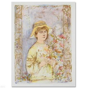 """""""Flora"""" Limited Edition Lithograph by Edna Hibel"""