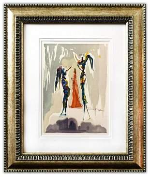 Salvador Dali- Original Color Woodcut on B.F.K. Rives