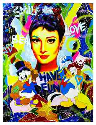 "Nastya Rovenskaya- Original Oil on Canvas ""Have Fun"