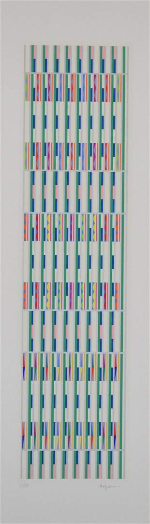 Yaacov Agam Original Serigraph Hand Signed and Numbered