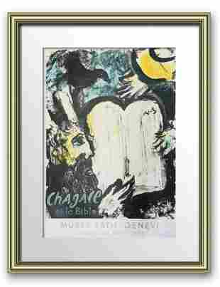 Marc Chagall Hand signed Exhibition Lithograph on Paper
