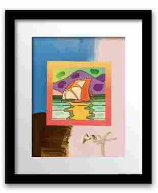 Peter Max Mixed Media Acrylic over Lithography