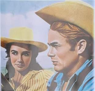 """Photograph on paper """"James Dean & Liz taylor"""""""