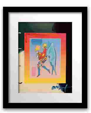 """Peter Max Mixed Media Acrylic over Lithography """"Angel"""""""