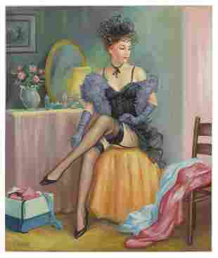 "Taras Sidan- Original Giclee on Canvas ""Tatiana"""