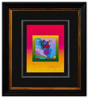 """Peter Max- Original Lithograph """"Woodstock Profile on"""