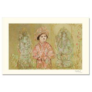 """""""Willie and Two Quan Yins"""" Limited Edition Lithograph"""