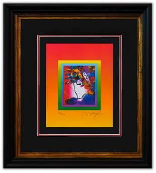 "Peter Max- Original Lithograph ""Blushing Beauty on"