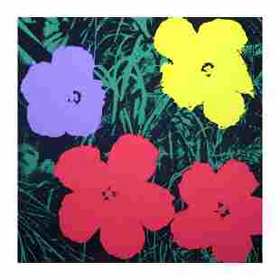 """Andy Warhol """"Flowers 11.73"""" Silk Screen Print from"""