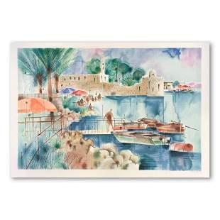 "Shmuel Katz (1926-2010), ""Sea of Galilee"" Hand Signed"