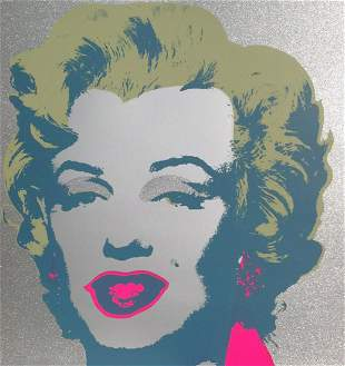 Andy Warhol- Silk Screen Print with Diamond Dust on it;
