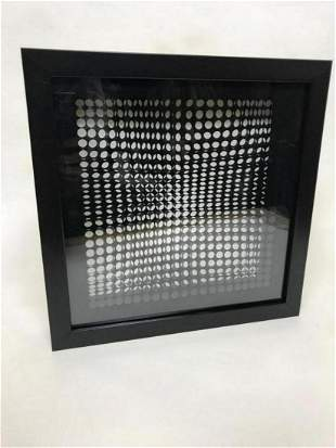 """Victor Vasarely- 3D Wall Sculpture/object """"Cinetiques"""""""