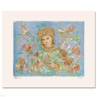 """""""Cheryl"""" Limited Edition Lithograph by Edna Hibel"""