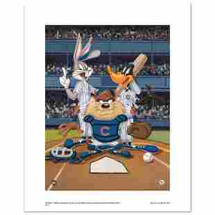 """""""At the Plate (Cubs)"""" Numbered Limited Edition Giclee"""