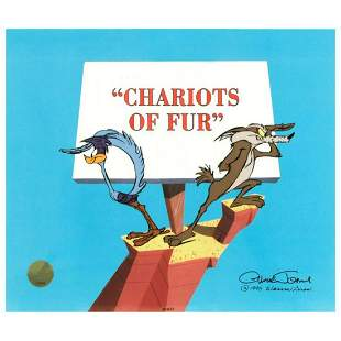 """""""Chariots of Fur"""" Limited Edition Animation Cel by"""