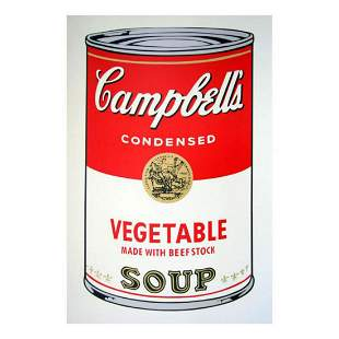 """Andy Warhol """"Soup can 11.48 (Vegetable w/ Beef Stock)"""""""