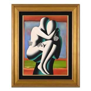 "Mark Kostabi, ""Perfect Memory"" Framed Original Mixed"