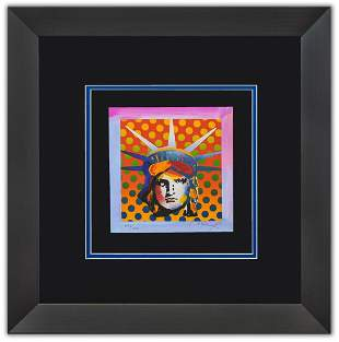 "Peter Max- Original Lithograph ""IBERTY HEAD XI"""