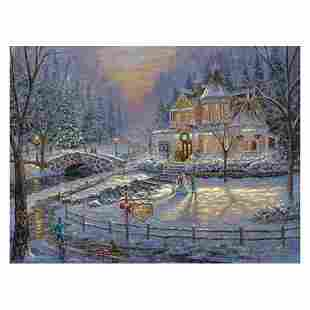 """Robert Finale, """"Christmas Homecoming"""" Hand Signed,"""