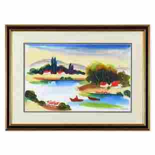 Moshe Leider, Framed Original Mixed Media Watercolor